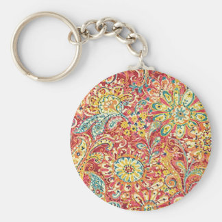 Colorful Floral Key Chain