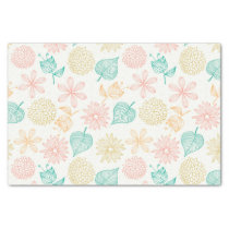 Colorful floral leafy pattern Tissue Paper