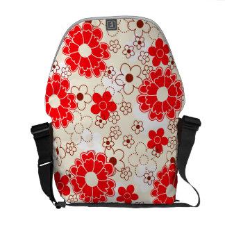 Colorful floral messenger bag