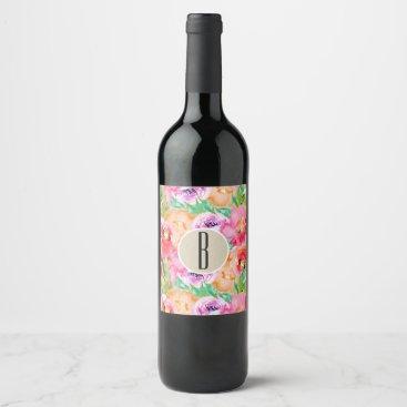 Professional Business Colorful Floral Modern Rustic Botanical Kraft Wine Wine Label