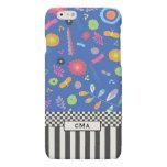 Colorful, Floral Monogram Black & White Pattern Matte iPhone 6 Case