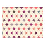 Colorful Floral Mosaic Pattern Postcard