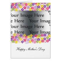 colorful floral mother's day photo card