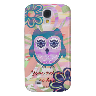 Colorful Floral Owl Galaxy S4 Cover