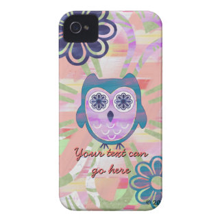 Colorful Floral Owl iPhone 4 Cover