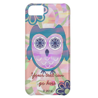 Colorful Floral Owl iPhone 5C Case