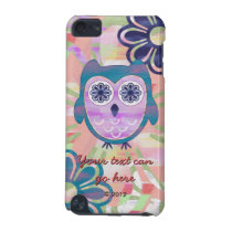 Colorful Floral Owl iPod Touch 5G Case