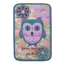 Colorful Floral Owl MacBook Air Sleeve