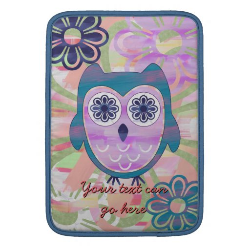 Colorful Floral Owl Sleeve For MacBook Air