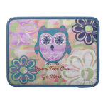 Colorful Floral Owl Sleeve For MacBook Pro