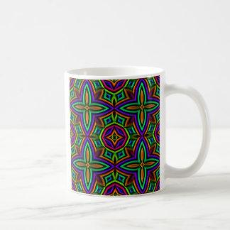 Colorful Floral Pattern Alternate Big Coffee Mug
