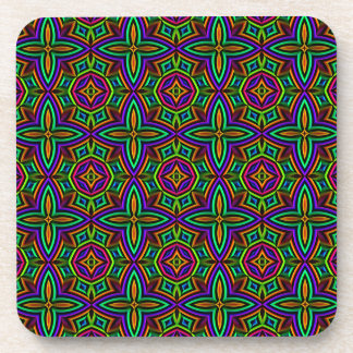Colorful Floral Pattern Alternate Small Coaster