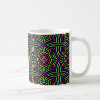 Colorful Floral Pattern Alternate Small Coffee Mugs