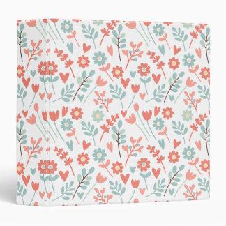 Colorful floral pattern art binder
