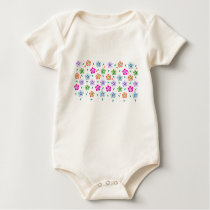 Colorful Floral pattern Baby Bodysuit