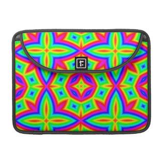 Colorful Floral Pattern Big MacBook Pro Sleeve