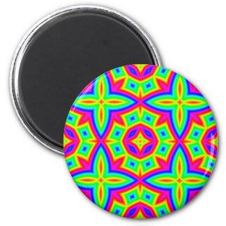 Colorful Floral Pattern Big Magnet