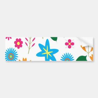 Colorful Floral Pattern Bumper Sticker