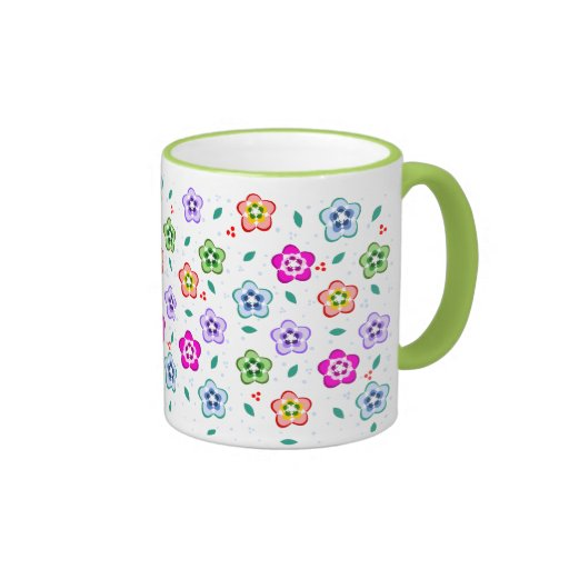 Colorful Floral pattern Coffee Mug
