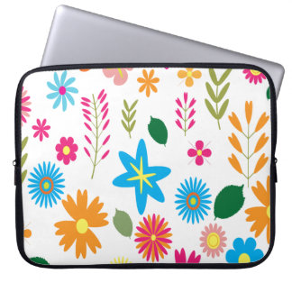 Colorful Floral Pattern Computer Sleeve