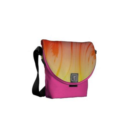Colorful Floral Pattern Courier Bag