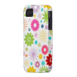 Colorful Floral Pattern Design  Case Mate iPhone 4 iPhone 4/4S Case