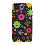 Colorful Floral Pattern Design iPhone 4 Case