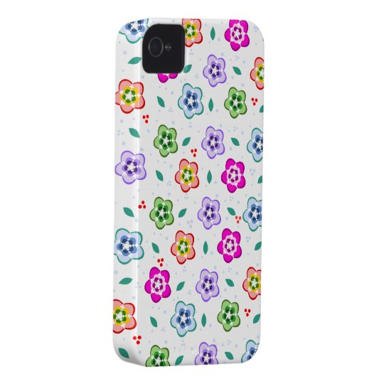 Colorful Floral pattern iPhone 4 Case-Mate Case