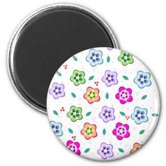 Colorful Floral pattern Fridge Magnet