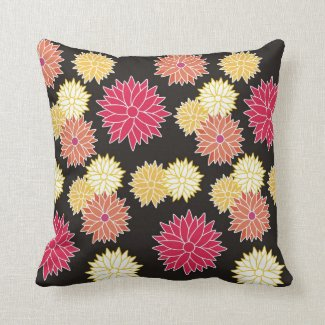 Colorful Floral Pattern Pillow