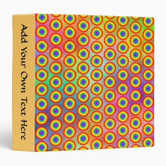 Colorful Floral Pattern. Rainbow Colors. Binder
