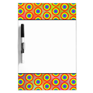 Colorful Floral Pattern. Rainbow Colors. Dry Erase Whiteboards