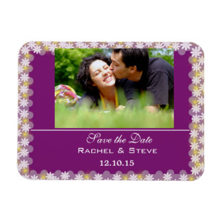 Colorful Floral Pattern Save the Date Flexi Magnet