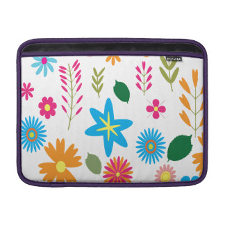 Colorful Floral Pattern Sleeves For MacBook Air