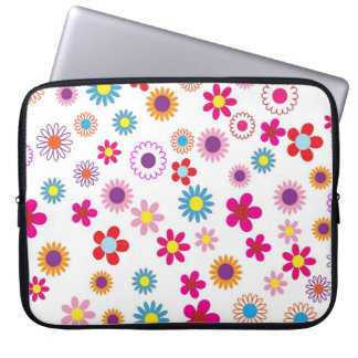 Colorful floral Patterns Laptop Sleeve