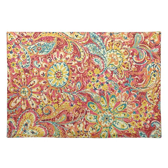 Colorful Floral Placemat