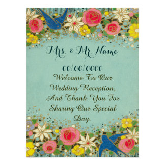 colorful floral poster ,wedding poster