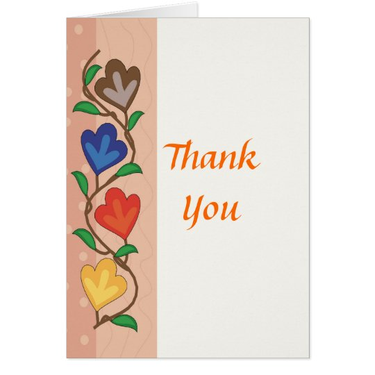 Colorful floral strip card