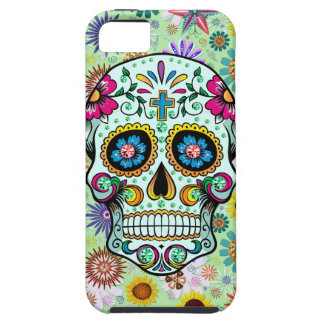 Colorful Floral Sugar Skull 3 & Diamonds iPhone SE/5/5s Case