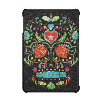 Colorful Floral Sugar Skull Glitter And Gold 2 iPad Mini Retina Cover