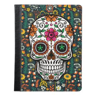 Colorful Floral Sugar Skull iPad Case