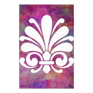Colorful Floral Symbol Modern Design Stationery