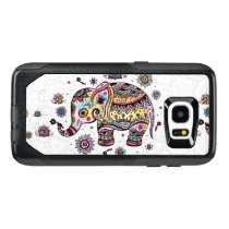 Colorful Floral Tribal Elephant Illustration OtterBox Samsung Galaxy S7 Edge Case