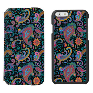 Colorful Floral Tribal Paisley Pattern iPhone 6/6s Wallet Case