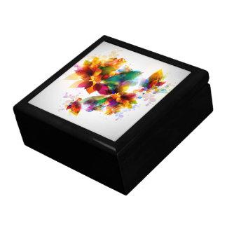 Colorful Floral Trinket Box