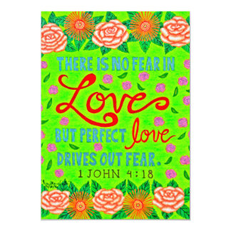 Colorful Floral Typography Bible Verse On Love Card
