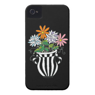 Colorful Floral Vase iPhone 4 Cover