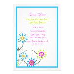Colorful Floral Vine Party Invitation