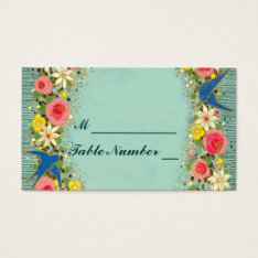 Colorful Floral Wedding Place Cards,table Number Business Card at Zazzle