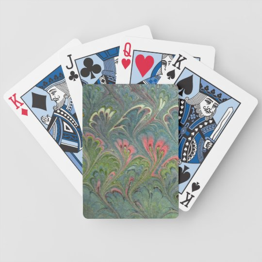 Colorful Florentine Marbling Art Playing Card Deck